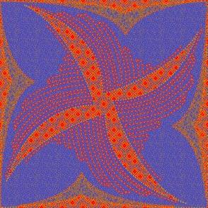 spindots afrikans blue
