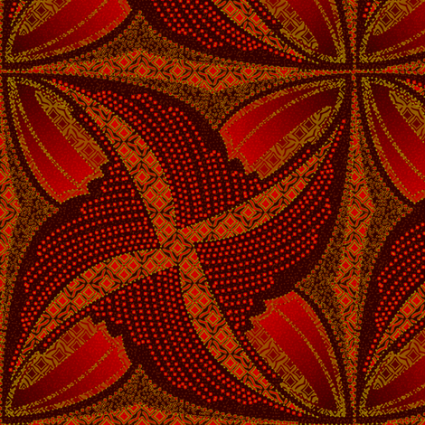 spindots_afrikans_burnt_butterfly fabric by glimmericks on Spoonflower - custom fabric