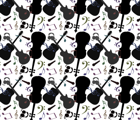 Music is very porreta (large) fabric by pirophobia on Spoonflower - custom fabric
