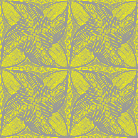 spindots afrikans - lemon zest fabric by glimmericks on Spoonflower - custom fabric