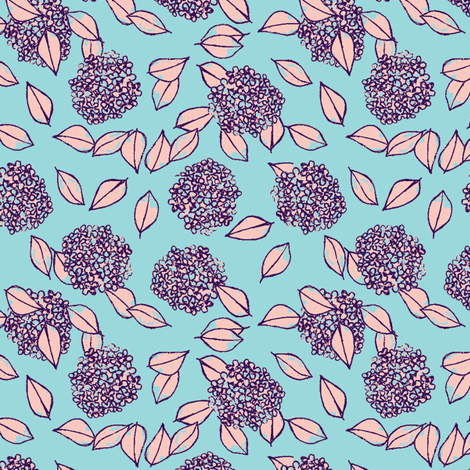 small bulbs on turquoise fabric by karinka on Spoonflower - custom fabric