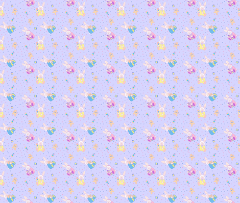 baby_bunny_on_lavender fabric by patti_ on Spoonflower - custom fabric