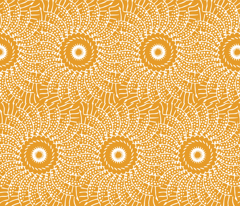 sunflower_spin fabric by lfntextiles on Spoonflower - custom fabric