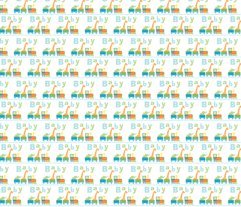 baby_animal_train- fabric by patti_ on Spoonflower - custom fabric