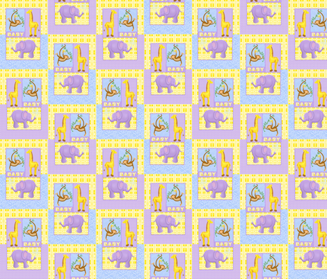 baby_animals_on_patterns fabric by patti_ on Spoonflower - custom fabric