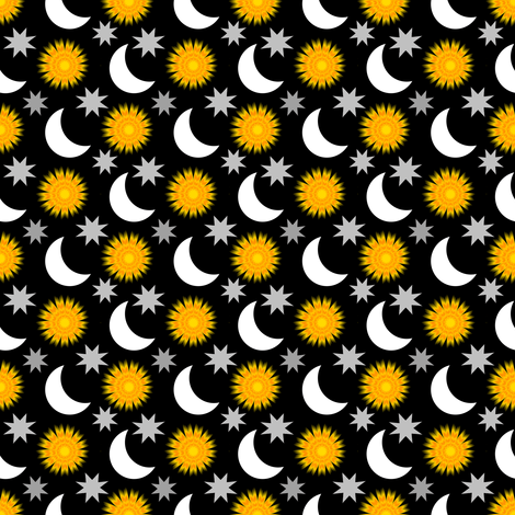 SunAnMoonAnStarsShine fabric by grannynan on Spoonflower - custom fabric