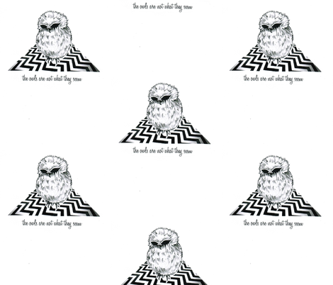 TWINPEAKSOWL fabric by thunderpumpkin on Spoonflower - custom fabric
