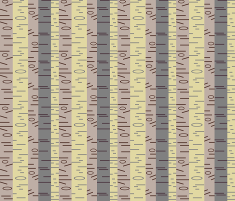 Silver Birch - Original fabric by giddystuff on Spoonflower - custom fabric