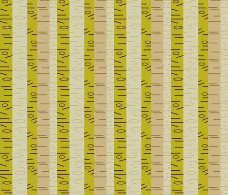 Silver Birch - Moss fabric by giddystuff on Spoonflower - custom fabric