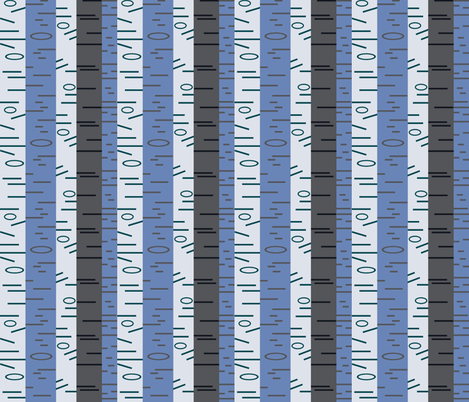 Silver Birch - Cool fabric by giddystuff on Spoonflower - custom fabric