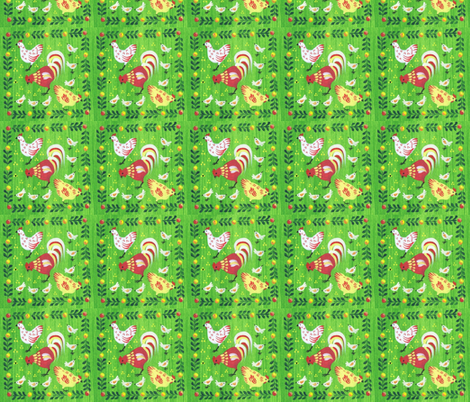 chicken-ed fabric by mybohohome on Spoonflower - custom fabric