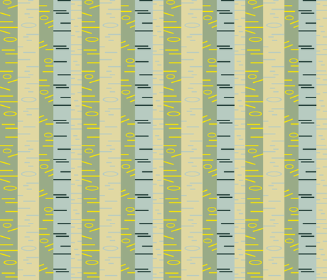 Silver Birch - Mid Century fabric by giddystuff on Spoonflower - custom fabric