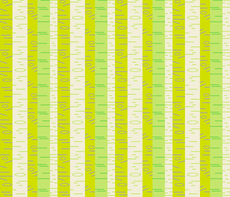 Silver Birch - Fresh fabric by giddystuff on Spoonflower - custom fabric