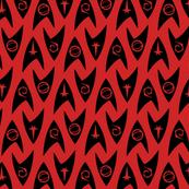 Star Trek TOS Insignias - Black on Red