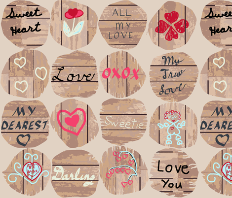 4x4_boards_love2 fabric by khowardquilts on Spoonflower - custom fabric