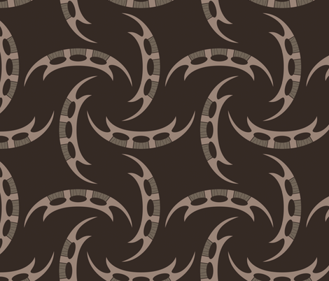 Klingon Bat'leth - Brown, Large fabric by meglish on Spoonflower - custom fabric