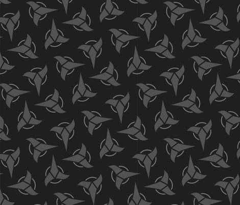 Klingon - Grey, Large fabric by meglish on Spoonflower - custom fabric
