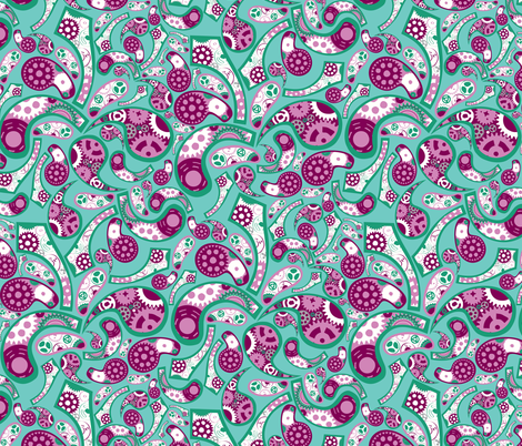 Emerald Geared Paisley