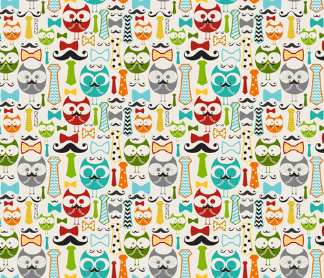 Working Owls fabric by natitys on Spoonflower - custom fabric
