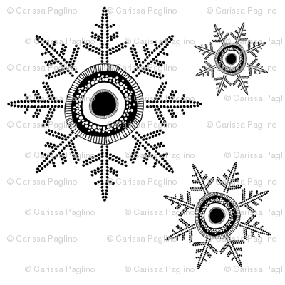 Snowflakes B&amp;W