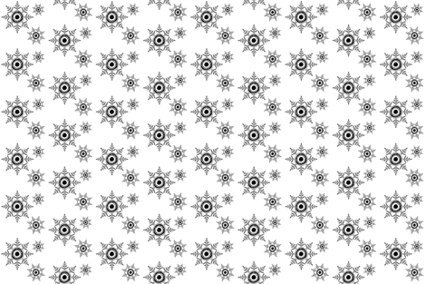 Snowflakes B&amp;W fabric by carissa_paglino on Spoonflower - custom fabric