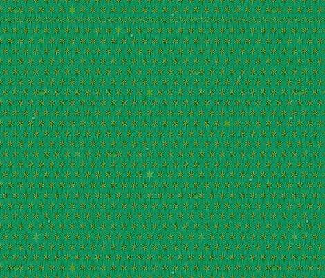star grid emerald fabric by glimmericks on Spoonflower - custom fabric