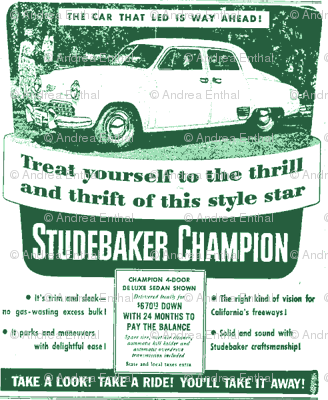 new 1949 Studebaker Champion Ad 4 door sedan
