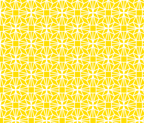 Diamond (yellow) fabric by pattern_bakery on Spoonflower - custom fabric