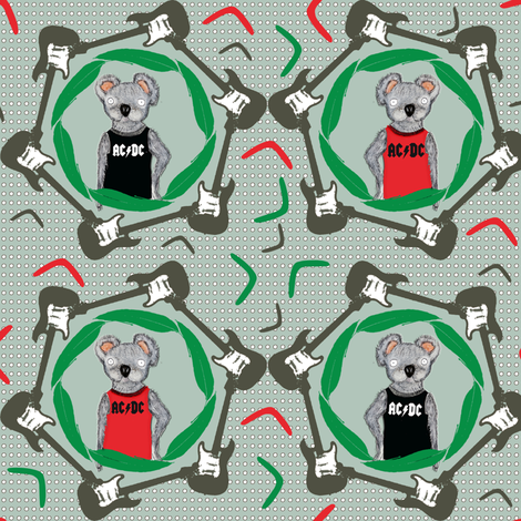 koalarock fabric by susiprint on Spoonflower - custom fabric