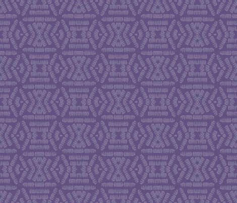 Corkscrew Pasta on Dusky Purple fabric by anniedeb on Spoonflower - custom fabric