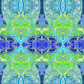 Festival in Blue and Green