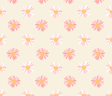 Daisy Love, My Daisy Love fabric by ladynoxy on Spoonflower - custom fabric