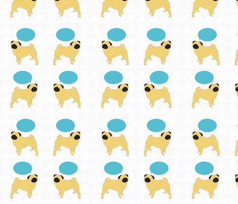pups_speak fabric by cyn@riverdogprints on Spoonflower - custom fabric