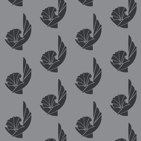FLoral I in grays fabric by cnarducci on Spoonflower - custom fabric