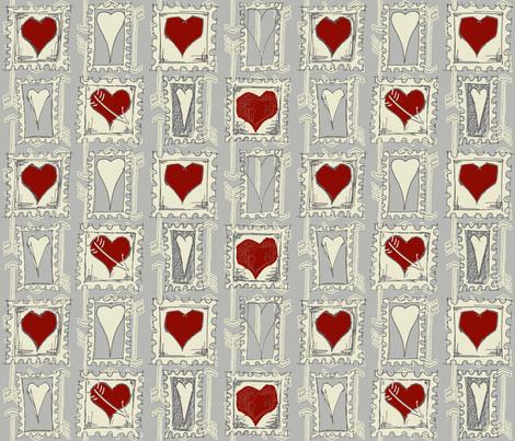 Cupids_Arrow_alternat_colors-ch-ch fabric by dermotogrady on Spoonflower - custom fabric