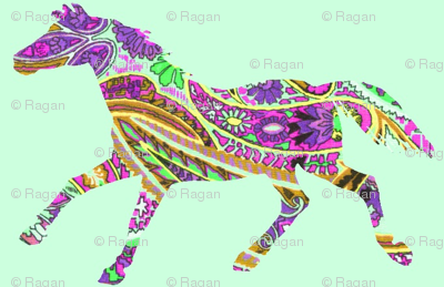 Horse Shadow Paisley