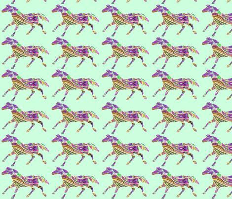 Horse Shadow Paisley fabric by ragan on Spoonflower - custom fabric