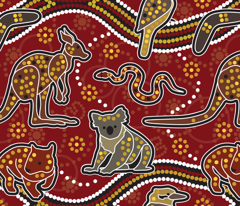 Australia Unleashed fabric by mariafaithgarcia on Spoonflower - custom fabric
