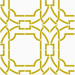 Bamboo Trellis-Mustard-Large