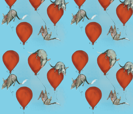 bilbies and balloons fabric by motyka on Spoonflower - custom fabric