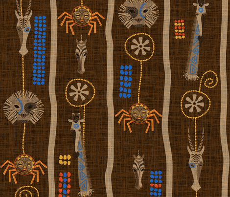 Ananse's Web fabric by jwitting on Spoonflower - custom fabric