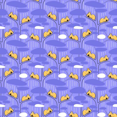 Sleeping LilaKoala fabric by dianne_annelli on Spoonflower - custom fabric