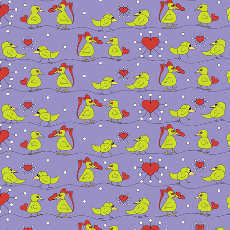 Love on the Line fabric by mag-o on Spoonflower - custom fabric