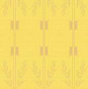 Deco Wheat Stripe - mellow yellow and taupe