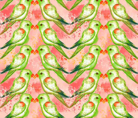 Lorikeets in Love fabric by sara_berrenson on Spoonflower - custom fabric