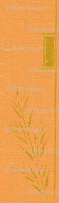 Deco wheat stripe -  orange and green