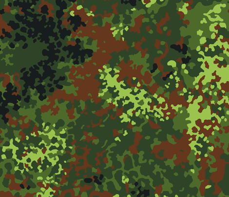 German Bundeswehr Flecktarn Camo fabric by ricraynor on Spoonflower - custom fabric
