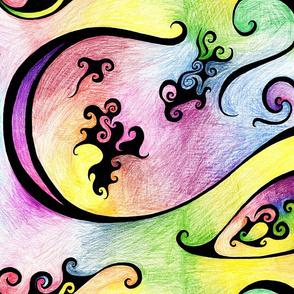Color swirls Large