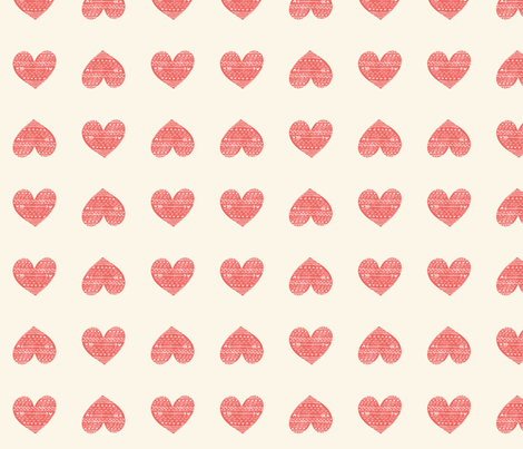 Hearts and Arrows fabric by ellolovey on Spoonflower - custom fabric