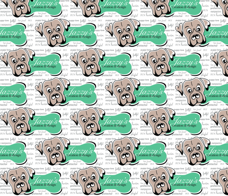 Jazzy My Dog fabric by jazzysdesign on Spoonflower - custom fabric